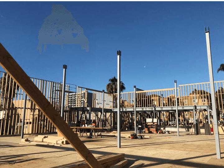 Frame and form work of CVS Pharmacy by Bernal Builders near San Diego